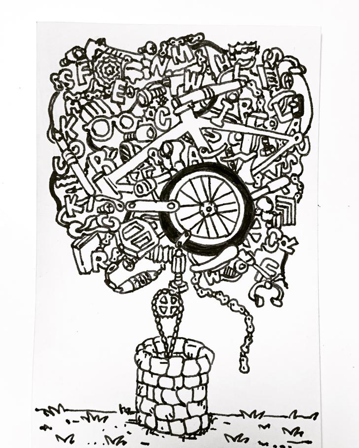 自転車 イラストレーターコウシュウマサル