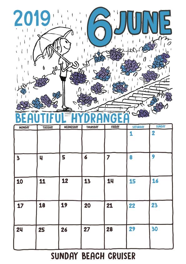 サンデービーチクルーザー 6月カレンダー